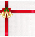 xmas golden banner with bells and transparent vector image