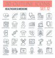 healthcare medicine icons vector image