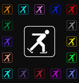 Ice skating icon sign Lots of colorful symbols for vector image