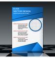 Modern flyer design template vector image