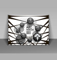 abstract business flyer brochure design black and vector image