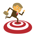 Businessman got the target vector image