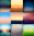 9 Blurred Backgrounds vector image