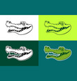 alligator outline silhouettes vector image vector image