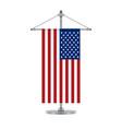 american flag on the cross metallic pole vector image vector image