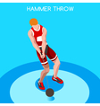 Athletics Hammer Throw 2016 Summer Games 3D vector image vector image