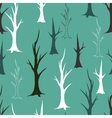 Bare autumn trees seamless pattern vector image vector image