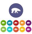 Bear set icons vector image vector image