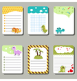 cards with cartoon dinosaurs vector image
