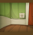 cartoon corner of room close-up vector image vector image