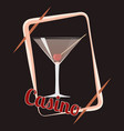 casino cocktail vector image vector image