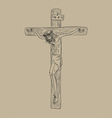 Christ on cross vector image