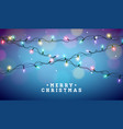 christmas with glowing colorful vector image