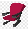Cinema chair cartoon icon vector image