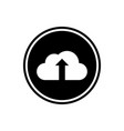 cloud and up arrow flat icon vector image vector image