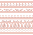 collection of seamless laces vector image vector image