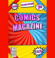 colorful comics magazine vector image vector image