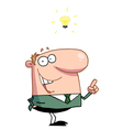 Creative Thinking Businessman In A Green vector image