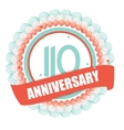 Cute Template 110 Years Anniversary with Balloons vector image