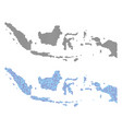 dotted indonesia map abstractions vector image vector image