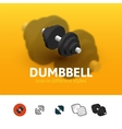 Dumbbell icon in different style vector image