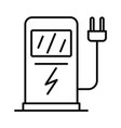 electric car recharge station icon outline style vector image vector image