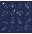 Extreme sports icons outline vector image