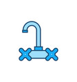 faucet concept blue modern icon or sign vector image vector image