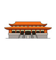 forbidden city icon vector image