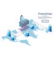 franchise web banner isometric design vector image