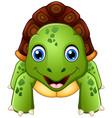 funny cartoon turtle vector image vector image