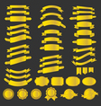 gold ribbin badges vector image vector image