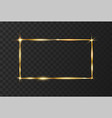 golden shiny glowing frame vector image vector image
