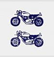 hand-drawn motorcycle sticker design vector image