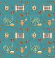 hanukkah holiday flat design icons seamless vector image