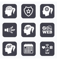 Head with brain icon Female woman symbols vector image vector image