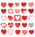 heart style set 2 vector image