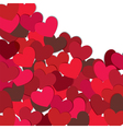 hearts valentine card vector image vector image