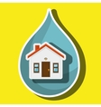 house and ecology isolated icon design vector image vector image