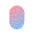 id app icon fingerprint vector image