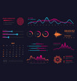 infographic dashboard template data screen vector image