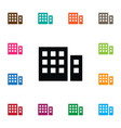 isolated building icon apartment element vector image
