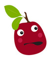 isolated surprised plum vector image vector image