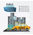 Isolated taxi vehicle design vector image vector image