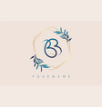 letters bb b logo with golden polygon frames vector image vector image