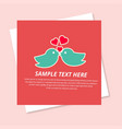 love birds with pink background vector image