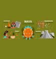 maya civilization infographics vector image