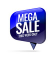 mega sale advertising banner vector image