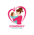 modern happiness mother and child logo vector image