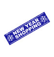 new year shopping grunge rectangle stamp seal with vector image vector image